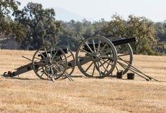 Civil War Era Cannons Stock Image
