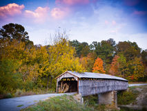 Civil War Era Covered Bridge. Beech Fork Bridge. Civil War Era Covered Bridge in Kentucky stock photo