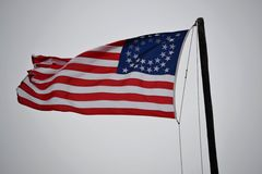 Civil War Era Flag - 35 Stars Stock Photo