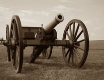 Civil War Era Military Cannon on Battlefield royalty free stock images