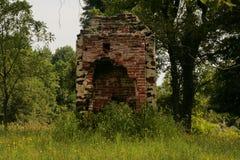 A Civil War era ruin. An image of a fireplace still standing Stock Images