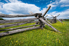 Civil War Fence Manassas Battlefield National Park Royalty Free Stock Photography