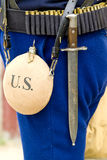 Civil War Gear. Infantry Gear from the Civil War royalty free stock photos
