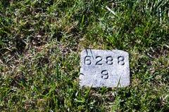 Civil War Grave Marker Royalty Free Stock Images