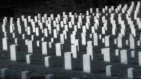 Civil War Gravestones Cemetery. Cave Hill Cemetery unknown confederate & union soldiers stock image