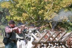 Civil War Gun Battle stock photos
