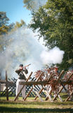 Civil War Gun Battle. Fall Muster at Beauvior, the Jefferson Davis House (confederate White House), in Biloxi, Mississippi. Annual Civil War battle reenactment Royalty Free Stock Image