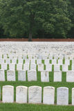 Civil War Headstones. Headstones of civil war prisoners at the Andersonville National Historic Park in Georgia Stock Images