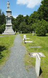Civil War Memorial and cemetery in Bar Harbor Stock Photo