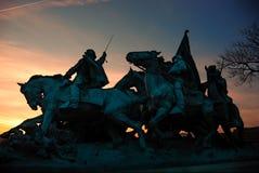Civil War Memorial silhouette, Washington DC. stock photos