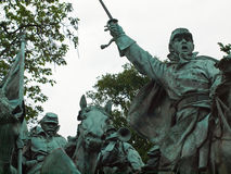Civil War Memorial Statue Stock Photos