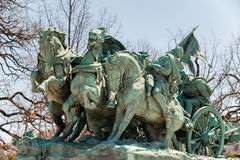 Civil War Memorial Statue in Washington DC. Washington D.C., United States - April 04, 2015 - Civil War Memorial Statue near the Ulysses S. Grant Memorial in Royalty Free Stock Photo