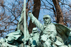 Civil War Memorial Statue in Washington DC. Washington D.C., United States - April 04, 2015 - Civil War Memorial Statue near the Ulysses S. Grant Memorial in Stock Photos