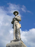Civil War Monument. Statue on Civil War Soldiers Grave Stock Photography