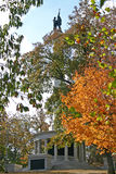 Civil War Monument in Autumn (vertical) stock photography