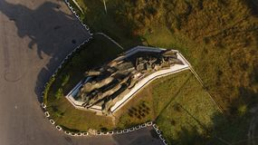 Civil War Monument, established in Rostov-on-Don. Royalty Free Stock Images
