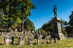 Civil War Monument - Sleepy Hollow Cemetery - Sleepy Hollow, NY Stock Images