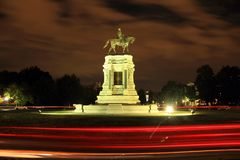 Robert E. Lee Monument. Civil War monuments such as the Robert E. Lee statue on Monument Avenue in Richmond, Virginia, represent key points of contention in Royalty Free Stock Images