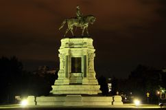 Robert E. Lee Monument. Civil War monuments such as the Robert E. Lee statue on Monument Avenue in Richmond, Virginia, represent key points of contention in Royalty Free Stock Photo