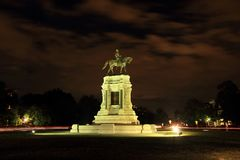 Robert E. Lee Monument. Civil War monuments such as the Robert E. Lee statue on Monument Avenue in Richmond, Virginia, represent key points of contention in Stock Photos