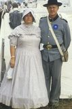 Civil War participant couple in full costume Royalty Free Stock Photography