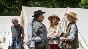 Civil war re-enactement in Duncans Mills, CA, USA royalty free stock photo