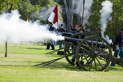 Civil War Re-Enactment 21- Union Artillery Royalty Free Stock Images