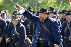 Civil War Re-Enactment 25 - Union Charge royalty free stock photo