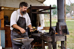 Civil War Re-enactment - Blacksmith Royalty Free Stock Images