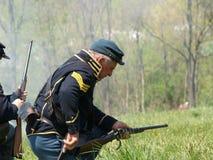 Civil War Re-Enactment Stock Image