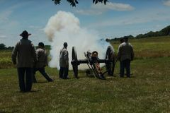 Civil War re-enactment royalty free stock photography