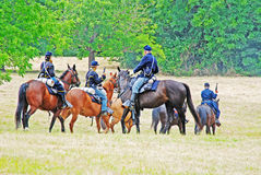 Civil War Re-enactment with horses Stock Photography