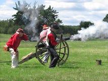 Civil War re-enactment shooting cannon Stock Image