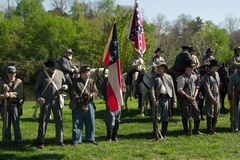 Civil War Re-enactors Line-up for Opening Ceremony Stock Photography