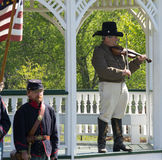 Civil War Re-enactors Playing the Violin Royalty Free Stock Photography