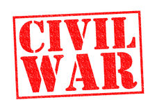 CIVIL WAR. Red Rubber Stamp over a white background Royalty Free Stock Photo