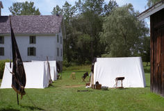 Civil War Reenactment Camp Stock Photography