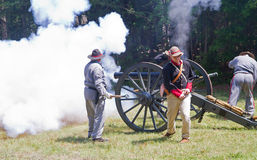 Civil War Reenactment Stock Image