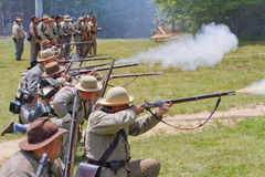 Civil War Reenactment Royalty Free Stock Images