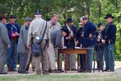 Civil War Reenactment Stock Photography