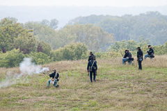Civil War reenactment Stock Images