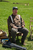 Civil War Reenactor at a Civil War Encampment Stock Photography