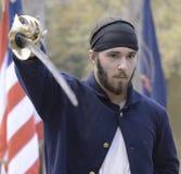 Civil War reenactor Royalty Free Stock Photo