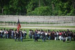Civil War reenactors Greenfield Village, MI stock photography