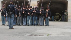 Civil War Renactment. Summer 2013, Fort point , San Francisco stock video footage