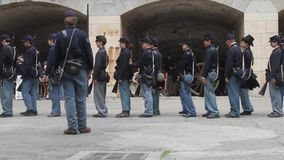 Civil War Renactment. Summer 2013, Fort point , San Francisco stock footage