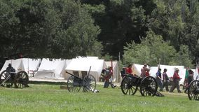 Civil War Renactment. Summer 2013,roaring camp, Santa cruz stock video