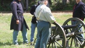 Civil War Renactment stock footage