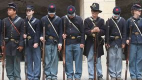 Civil War Renactment stock video