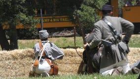 Civil War Renactment stock video footage